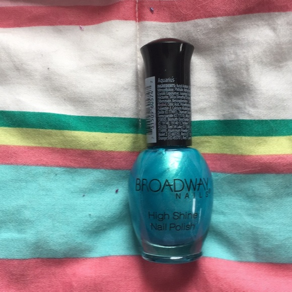 Broadway Nails Other | Sparkly Blue Nail Polish | Poshmark
